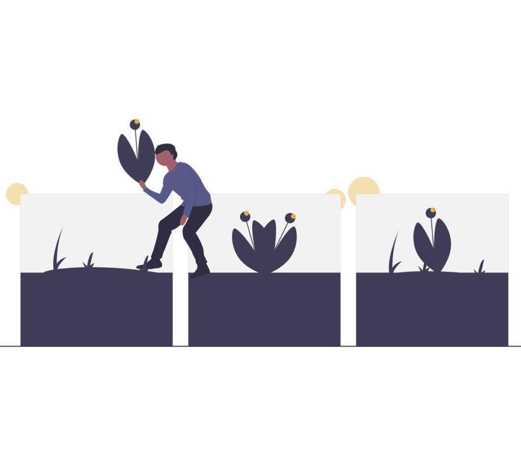 Ilustración para Objetivos de Desarrollo Sostenible